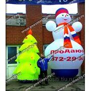 Надувные фигуры: Форма: снеговик фото