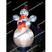 Надувная новогодняя фигура. Снеговик с подсветкой фото