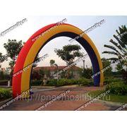Надувная арка круглая «радуга».