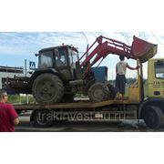 Аренда трактора МТЗ с щеткой и ковшом фото
