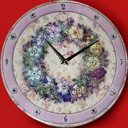 Часы Цветочный орнамент
