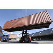 Погрузочно-разгрузочные работы на прием крупнотоннажных контейнеров 40 футовых фото