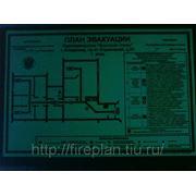 План эвакуации фотолюминесцентный (после отключения освещения)