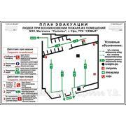 Отрисовка и изготовление планов эвакуации по ГОСТ Р 12.2.143-2009 фото