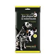 Teddy Pets Влажные салфетки для уборки за животными 25 штук фото