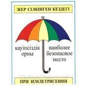 Знак безопасности «Зонтик безопасности» фото