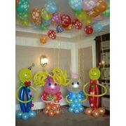 Фигуры из шаров на детские праздники, в Алматы фото