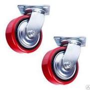 Колесо поворотное полиуретан/металл TOR (C550S/PU2040CB3ra/TG) 200мм фото