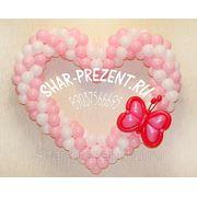 Сердце из воздушных шаров Классика фото