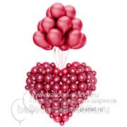 Запуск сердца из шаров фото
