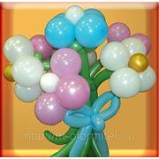 Букет из шаров с бантиком фото