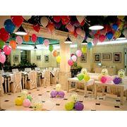 Красивые декоративные украшения, аэродизайн свадьбы и торжества. фотография