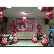 Оформление шарами к 8 марта фото
