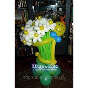 Человечек с цветами №1 фото