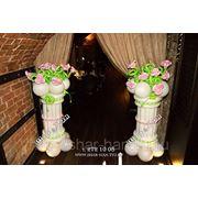 Колонна с цветами №2 фото