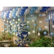 Новогоднее оформление шарами фото