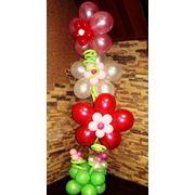 Цветы из шаров с гелием. фото