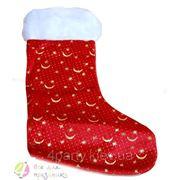 Носок для подарка Меховой Снежинки фото