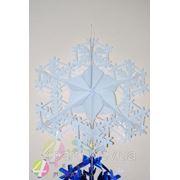 Снежинка №2 фольга БЕЛАЯ 90 см. фото
