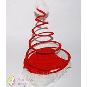 Шапка новогодняя спираль фото