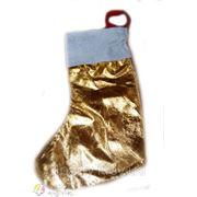 Носок для подарка золотой фото