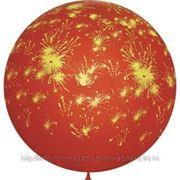 """M 36""""/91см Декоратор CHERRY RED (шелк.) 6 ст. рис Салют 1шт фото"""