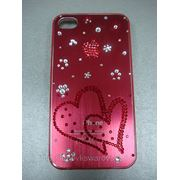 Крышка для iphone 4. сердечки фото