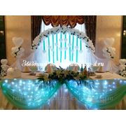 Прокат (аренда) свадебной арки, чехлы и банты на стулья, ширма (фон), декор тканями в Санкт-Петербурге фото
