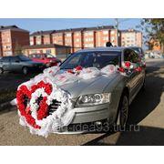 Украшение для свадебного авто фото