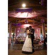 Оформление свадебного зала тканями фото