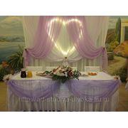 Свадебное оформление текстилем фото