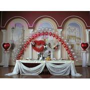 Оформление свадьбы воздушными шарами!
