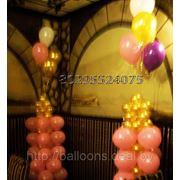 Воздушные шарики Минск. Украшение зала для свадьбы. Праздничное оформление шариками. фото
