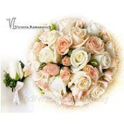 Букет невесты в пастельных тонах фото
