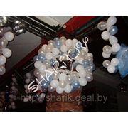 Новогодние фигуры из шаров фото