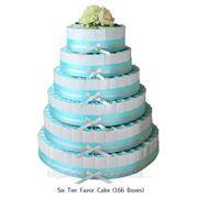 6-ти уровневый торт из 164 бонбоньерок фото