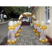 Оформление свадьбы в бело-золотых тонах фото