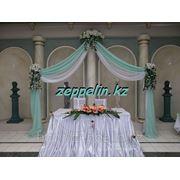 Оформление стола невесты и жениха. фото
