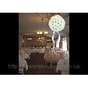 Свадебное оформление цветами, свадебные композиции из цветов, оформление свадьбы цветами, Киев фото