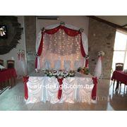 Оформление свадьбы бело-красное