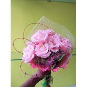 """Ручной букет из конфет """"Розовый сон"""" фото"""
