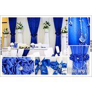 Свадебное оформление залов. Благородный синий. Полтава фото