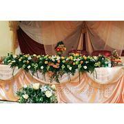 Украшение залов цветами фото