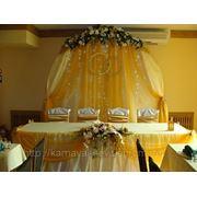 Оформление свадеб тканями фото