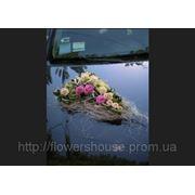 Оформление свадебных машин живыми цветами, Киев фото