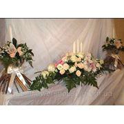 Свадебное оформление зала живыми цветами, Киев фото
