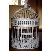 Свадебный декор, кованные клетки для голубей фото