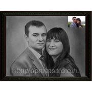 Парный портрет с фотографии, нарисованный портрет, написать портрет в Москве