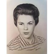 Женский графический портрет.Портрет на заказ по фотографии фото