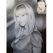 Портрет с фотографии Сухой кистью фото